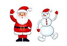 снеговик claus santa Стоковое Изображение RF