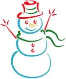 снеговик lineart Стоковая Фотография