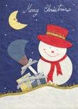 снеговик papercraft рождества веселый Стоковое Изображение RF