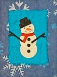 снеговик papercraft Стоковые Фото