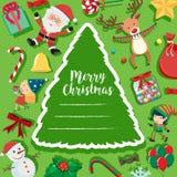 снеговик santa рождества карточки Стоковое Изображение RF