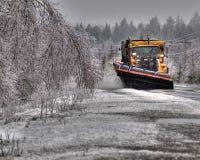 снегоочиститель стоковое изображение