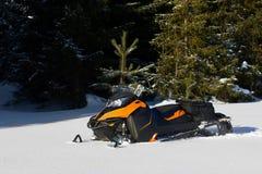 Снегоход в горе зимы Стоковое Изображение