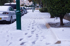 Снег в Израиле. 2013. стоковое изображение