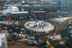 Снег в Киеве Стоковая Фотография RF