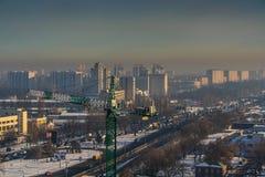 Снег в Киеве Стоковые Изображения
