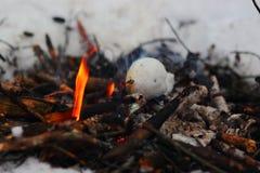 Снег в огне Стоковая Фотография RF