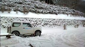 Снег в Японии Стоковое Изображение