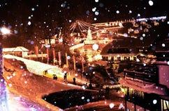 Снег зимы Triberg Стоковое фото RF