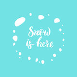 Снег здесь Стоковые Изображения