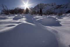 Снег и гора Стоковое Фото