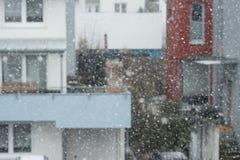 Снег и снежинки в зиме Стоковое Изображение