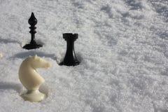 Снег и шахмат Фото для вашего Стоковые Фотографии RF