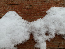 Снег на доске Стоковые Фотографии RF