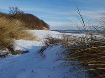Снег на пляже Стоковое Изображение RF