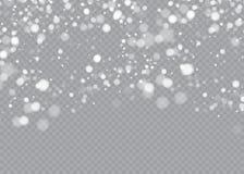 Снег на прозрачной предпосылке Элемент белого градиента декоративный также вектор иллюстрации притяжки corel бесплатная иллюстрация