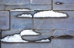 Снег на стене Стоковое Фото