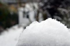 Снег на стене Стоковые Изображения