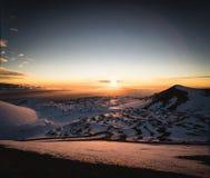 Снег на Mauna Kea Стоковое фото RF
