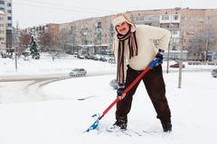 Снег лопаткоулавливателя отсутствующий Стоковая Фотография RF