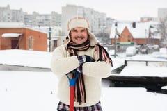 Снег лопаткоулавливателя отсутствующий Стоковые Фото
