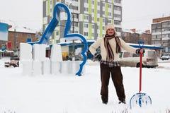 Снег лопаткоулавливателя отсутствующий Стоковая Фотография
