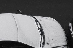 СНЕГ ПАДАЕТ В ДАТСКУЮ СТОЛИЦУ КОПЕНГАГЕН Стоковые Фотографии RF