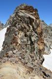 Снег-покрытые горы, снег Стоковое Изображение