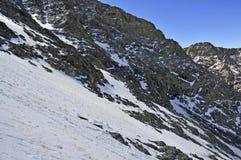 Снег покрыл высокогорный ландшафт на пике медвежонка Колорадо 14er Стоковое Изображение RF