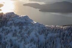 Снег покрыл гору Ридж около Ванкувера стоковые фотографии rf