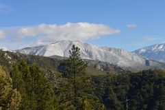 Снег покрыл гору Сан Бернардино Стоковые Изображения RF
