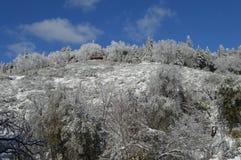 Снег покрыл гору Сан Бернардино Стоковое Изображение RF