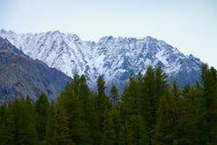 Снег покрыл горы в Пакистане Стоковое Фото