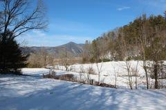 Снег покрыл горы Smokey Стоковое Изображение RF