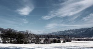 Снег покрыл горы Smokey Стоковое фото RF