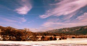 Снег покрыл горы Smokey Стоковые Изображения RF
