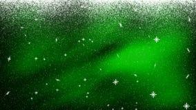 Снег понижаясь Bkg 1 ЗЕЛЕНЫЙ ЦВЕТ иллюстрация вектора