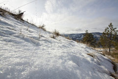 Снег плавя весной время Стоковые Изображения