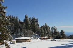 Снег ранчо покрыл гору Сан Бернардино Стоковые Изображения