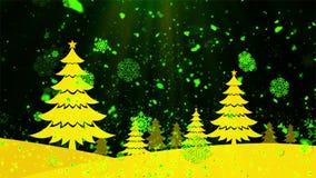 Снег 5 рождественской елки сток-видео