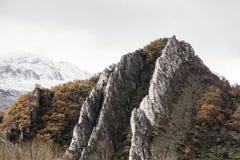 Снег скалистой горы Стоковое фото RF