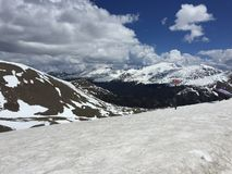 Снег скалистых гор Стоковая Фотография