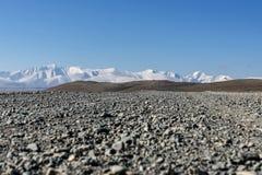 Снег степи горы гравия дороги Стоковое Изображение RF