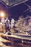 Снег церков полный стоковые изображения rf