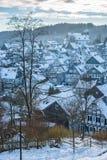 Снег Freudenberg покрыл старый городок Стоковое Изображение RF
