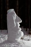 Снег Moai Стоковое Изображение RF