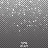 Снег overlay на прозрачной предпосылке иллюстрация вектора