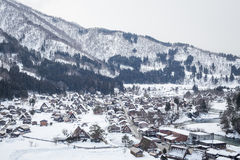 Снег Shirakawa-идет, Япония Стоковая Фотография RF