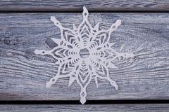 Снежинка белой бумаги Стоковые Фотографии RF