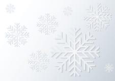 Снежинка белой бумаги Стоковое Фото
